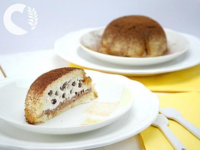 Zuccotto senza glutine alla crema di ricotta