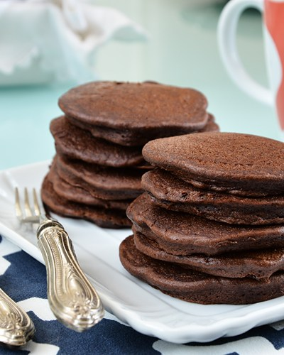 Pancakes al cioccolato senza glutine