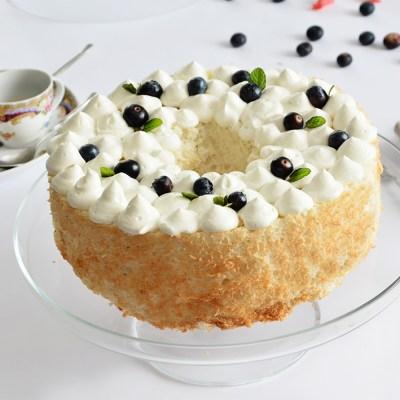 Angel cake al cocco, senza glutine e senza lattosio