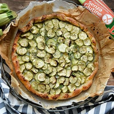 Torta rustica di zucchine senza glutine