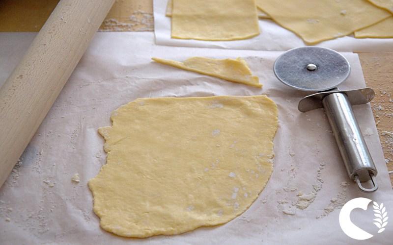 Sfoglia per lasagne senza glutine all'uovo