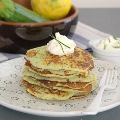 Pancake salati senza glutine alle zucchine
