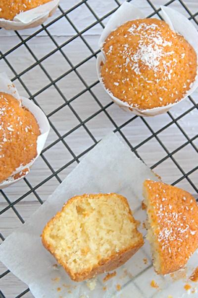 Muffin senza glutine al cocco