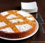 Torta morbida con carote e noci