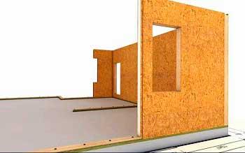Nogle gange, til fordel for imaginær økonomi, er teknologien til at bygge huse fra SIP-panelerne bevidst overtrådt, og almindelige bestyrelser på LAG'erne anvendes til konstruktion af kælderen. Oprettelsen af den varmeisolerende barriere udføres på basis af ceramisitis, fastgøres direkte til jorden gennem vandtætningslaget. Selv om denne metode kan anvendes, når man installerer et båndfundament, efterlader dens effektivitet imidlertid meget at ønske. God termisk isolering af et sådant design vil kræve installation af en yderligere isolering mellem det grove og rene gulv, typen af skumplader eller mineraluld. Det vil negere de oprindelige besparelser, og i sidste ende vil være mere arbejde.
