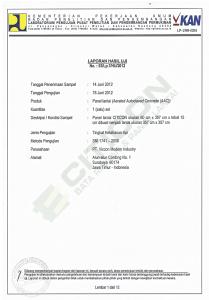 uji test, sertifikat, sertifikat uji tes, uji tes panel lantai, uji test panel lantai surabaya