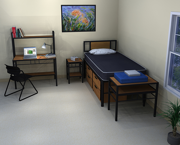 Residential Room 1 - Residence Hall Furniture
