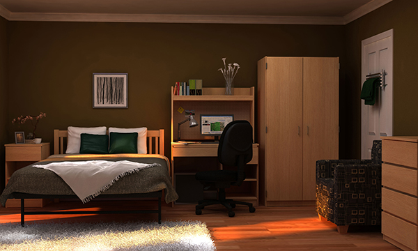 Residential Room 9 - Residence Hall Furniture