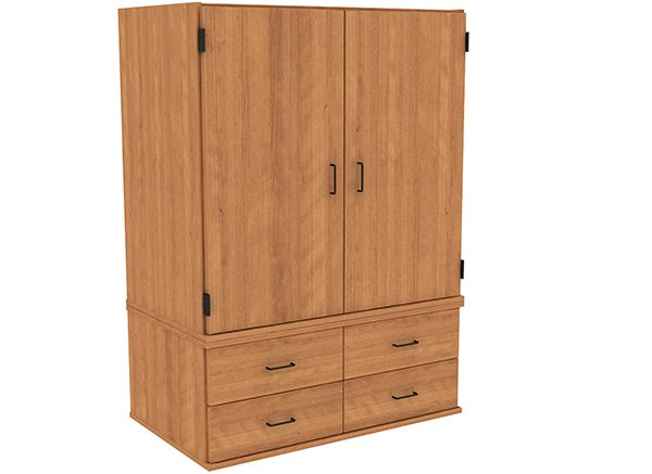W-4260_OutsideHinge_4Drawer_LoopPulls_2PieceUnit_AmberCherry_LG