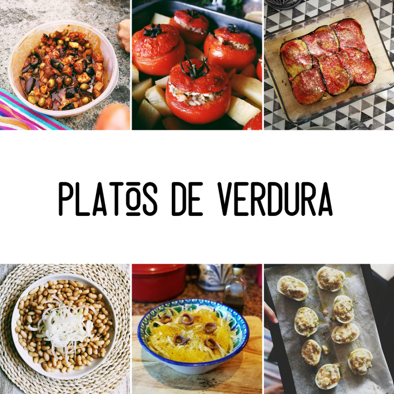 Collage platos verdura