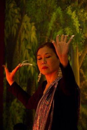 Nannette Matilac dancing pangalay in Siem Reap, Cambodia