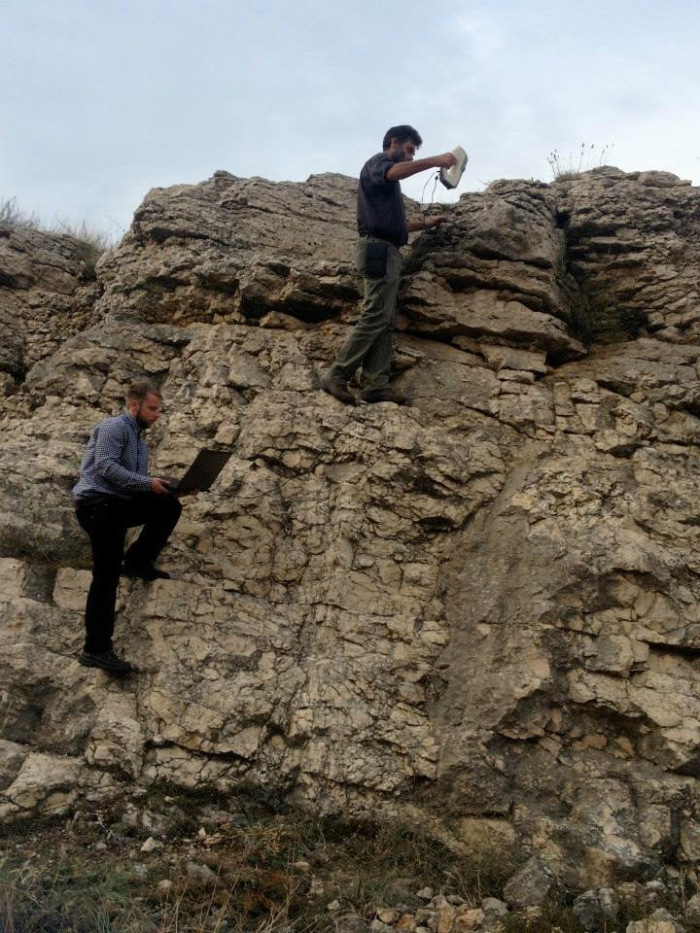 'white light' '3d scan' of a cliff face in the Ukraine