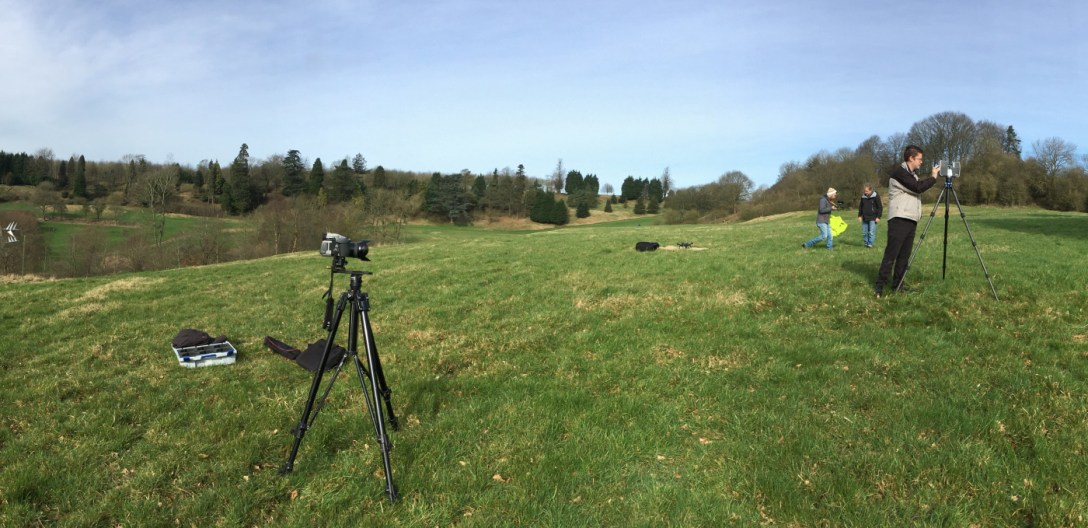 'Lidar' scanning at Lypiatt to create a '3D' model with 'Faro'
