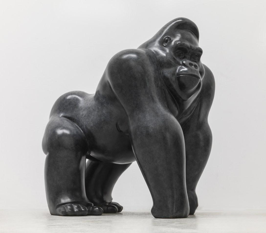 'Patina' on 'Bronze' Michael Cooper 'sculpture' at Pangolin Editions