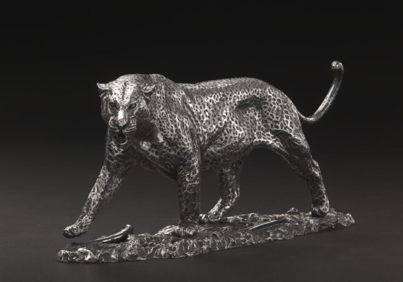 'Cast' of Murray Grant's Leopard in 'Silver' at Pangolin Editions