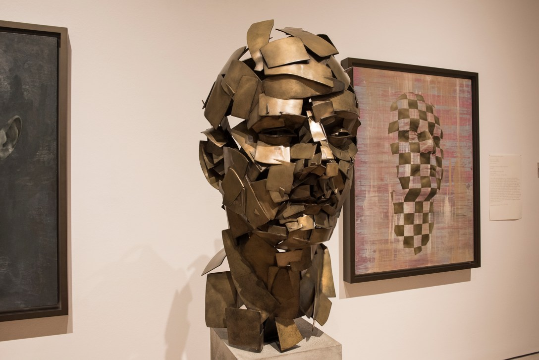 '3d' printed and 'cast' 'sculpture' by Jonathan Yeo on display at the 'Royal Academy'