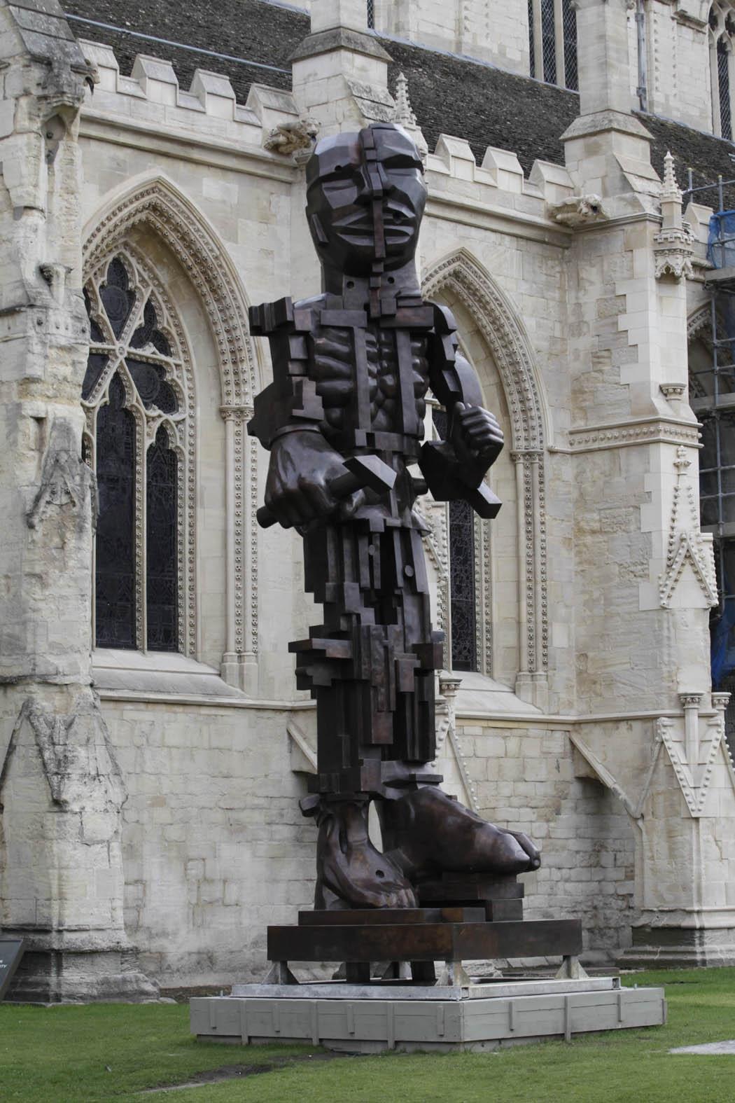 Monumental 'Bronze' 'sculpture' by 'artist' Eduardo Paolozzi, 'cast' at Pangolin Editions
