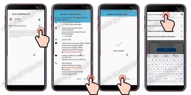 Samsung Galaxy On8 On8 Plus (2018) V8.0 Frp Lock Remove google account done download pangu frp login tool to enter new gmail in frp locked mobile