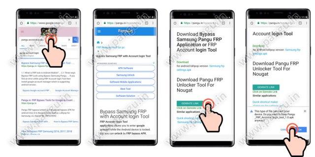 Step By Step Bypass FRP Samsung Galaxy Note 8 N950F N950N - Pangu in