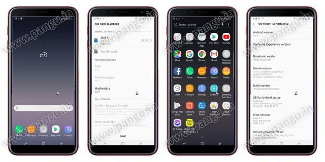 Samsung Galaxy On8 On8 Plus (2018) V8.0 Frp Lock Remove google account done check android version in frp locked mobile