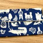 No.17 ポケットティッシュカバー … ¥350 (大きさ:横12.5cm x 縦8cm)(コットン100%)