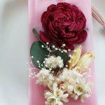 No.129 アロマワックスサシェ(ローズの香り) … ¥700(税込 … ¥770) (国産ソイワックス・国産ミツロウ・ドライフラワー)