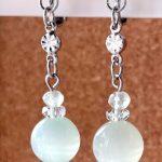 No.152 グリーンレースカルサイトのイヤリング … ¥1,200(税込 … ¥1,320) (天然石)(大きさ:3.2cm)(金属アレルギー非対応)