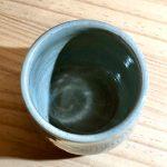 No.16 水色カップ … ¥1,800(税込 … ¥1,980) (大きさ:φ7.7cm x 高さ7.5cm)(素材:土)
