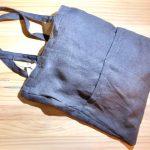 No.43 ビックポケット リネンバッグ … ¥1,800(税込 … ¥1,980)(大きさ:タテ約39cm x ヨコ約36cm)(素材:リネン100%)