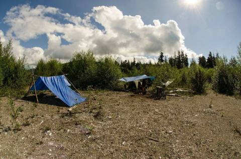 Our tent camp!