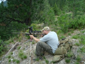 Long range field position practice with trekking poles