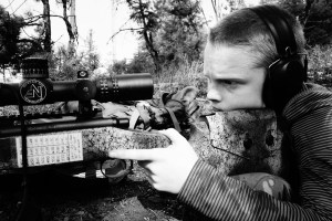Jake Millard shooting a Defensive Edge Canyon Rifle