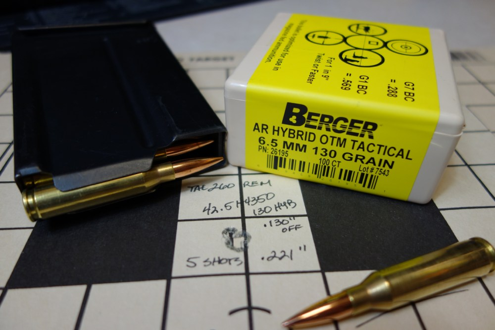 Berger 6 5 MM 130 Grain AR Hybrid: Deadly Accuracy – Panhandle Precision