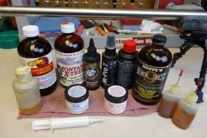 Rifle cleaning chemicals