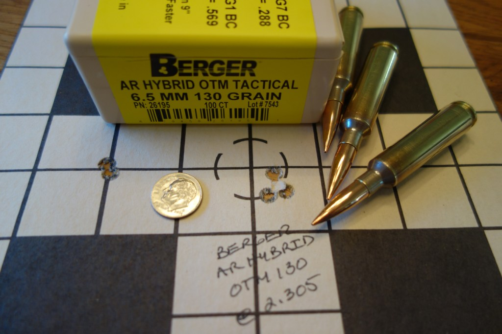 Cooper LR 52 6.5-284 with Berger 130 grain AR Hybrid