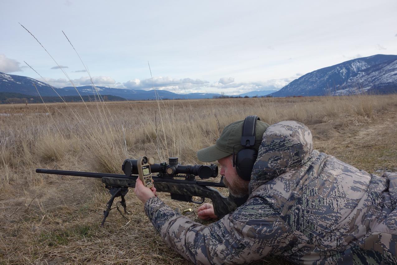 Sam Setting Up a Shot with a Kestrel 5700 Elite
