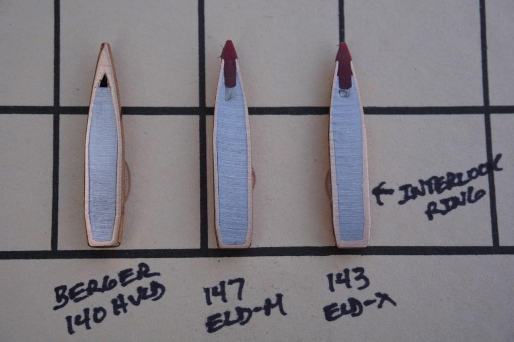 Cross Sectioned Hornady 143-grain ELD-X