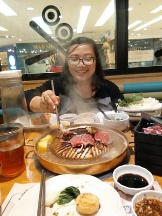 At Korean BBQ, Mid Valley, KL