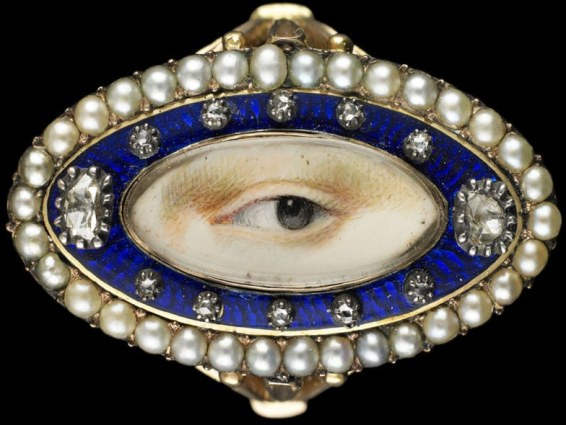 Lover's Eye on Gold Ring - Anonymous, c.1790.
