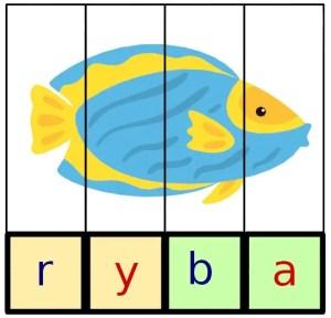 puzzle do nauki czytania