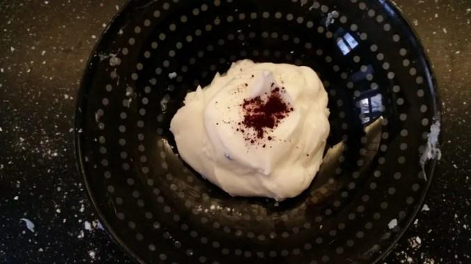 masa aksamitna z odżywki i mąki ziemniaczanej