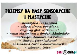 przepisy na masy sensoryczne