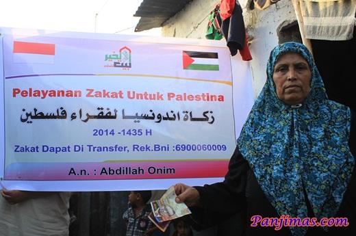 Bang Onim Salurkan Zakat Kepada Warga Gaza 1