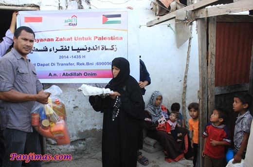 Bang Onim Salurkan Zakat Kepada Warga Gaza 2
