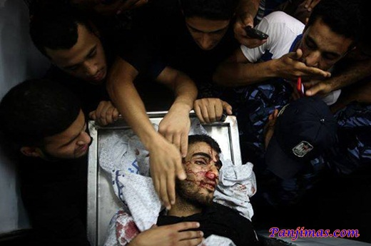 Korban Serangan Zionis Israel Saat Ramadhan 1434 H 3