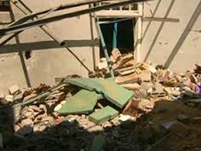 rumah sang ibu bayi yang hancur dibom zionis