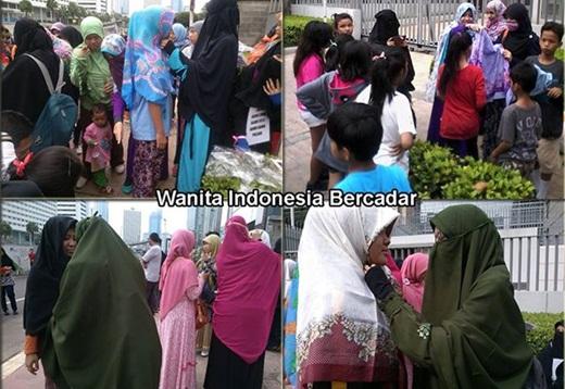 Wanita Indonesia Bercadar