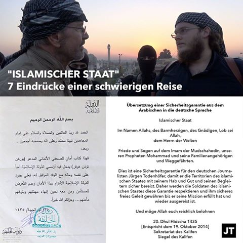 jurgen todenhofer visit Islamic State 4