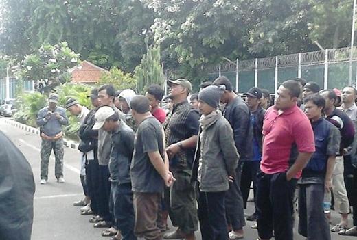 Aksi Solidaritas Ikhwan Jabodetabek di Depan LP Salemba