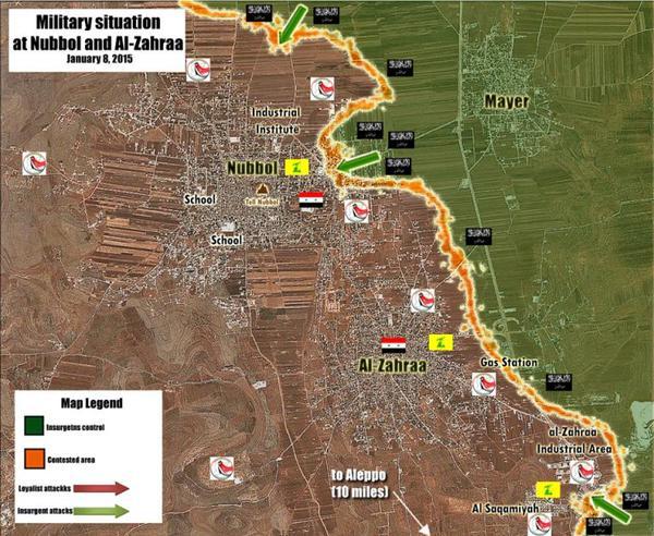 peta pertempuran jabhah nushrah dan syiah